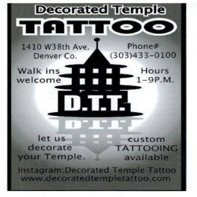 Decorated Temple Tattoo